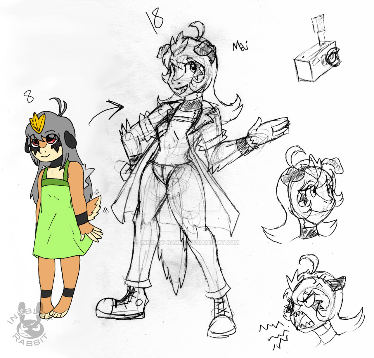 PKMNDX-Mai Young and Old by Inkblot-Rabbit