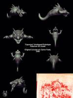 3D Capumon Model by Inkblot-Rabbit