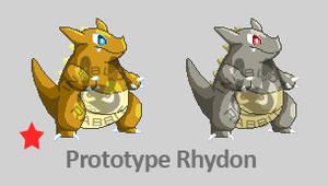 Prototype Rhydon Sprites by Inkblot-Rabbit
