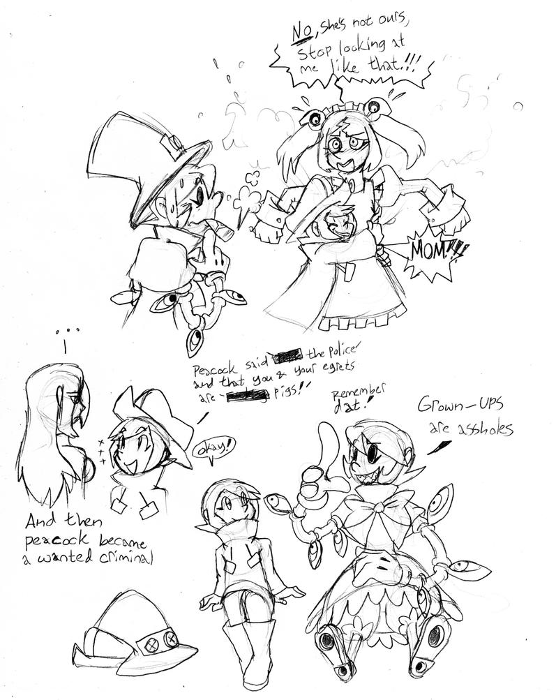 Skullgirls Sketchdump 12-That's Not Your Kid by Inkblot-Rabbit