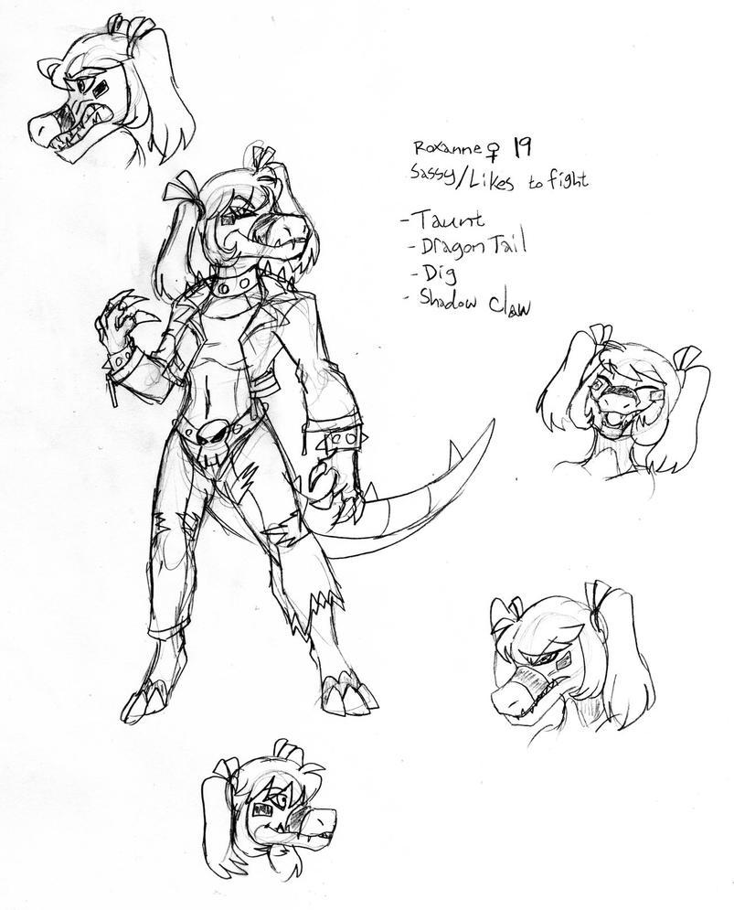 Pokemorphs-Roxy Sketchpage by Inkblot-Rabbit