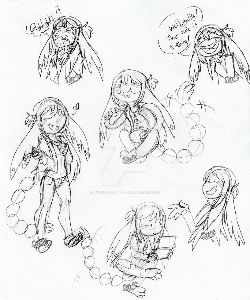 Nanami Expression Doodles 1 by Inkblot-Rabbit