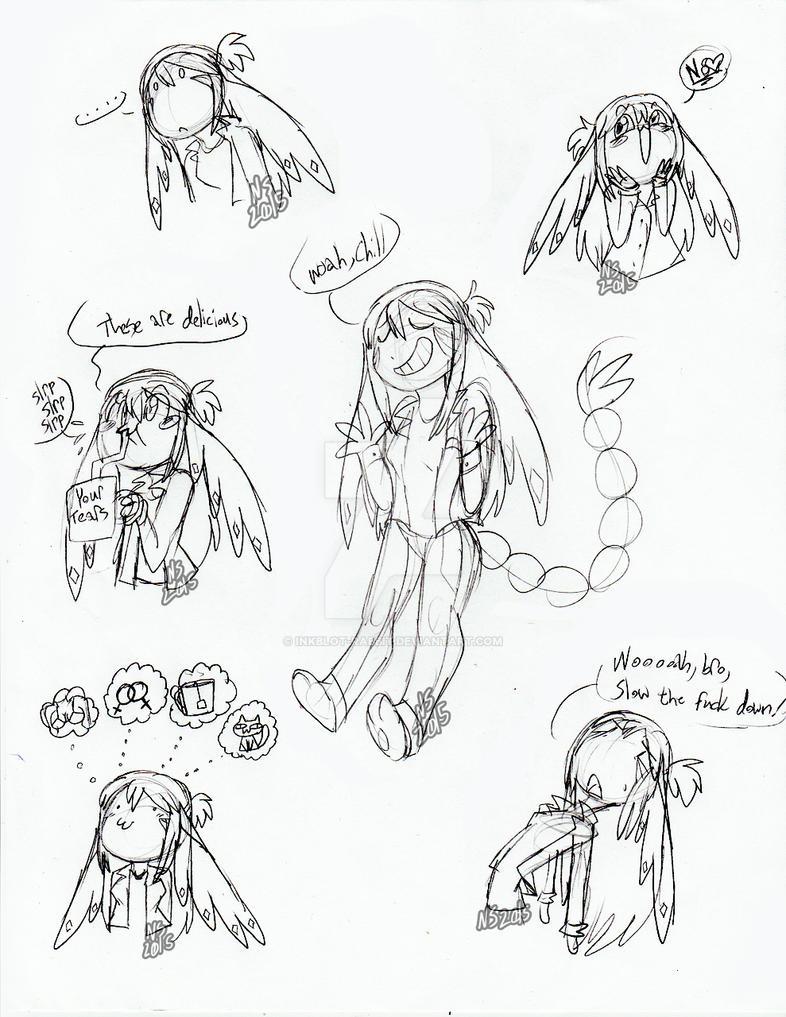 Nanami Expression Doodles 2 by Inkblot-Rabbit