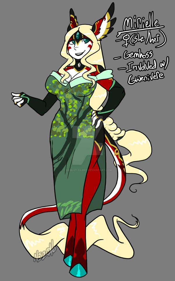 Mirielle Clothed by Inkblot-Rabbit
