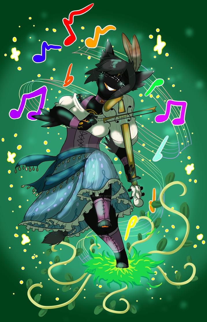 Harmonica Harmonizin'+Druidin' by Inkblot-Rabbit