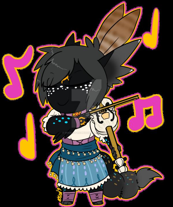 Teeny Tiny 'Monica by Inkblot-Rabbit