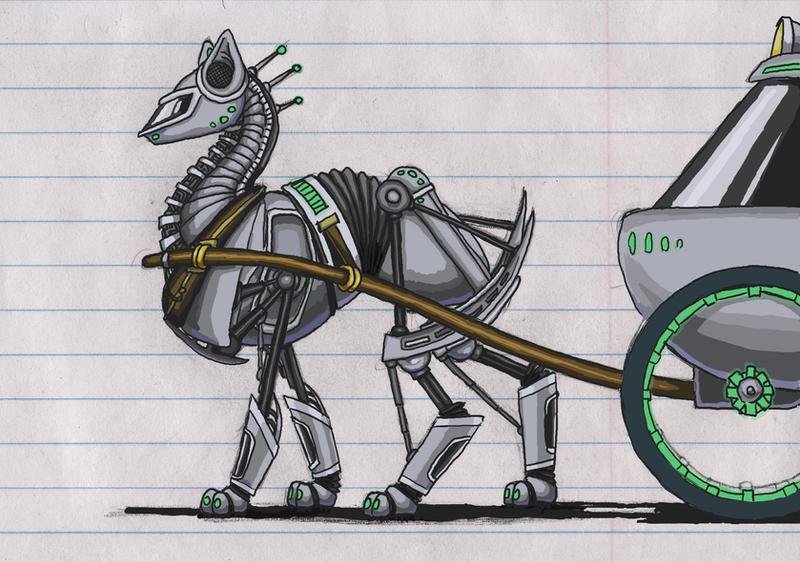 Deviantarts Robot Horse: Robotic Horse By Quail-bandit On DeviantArt