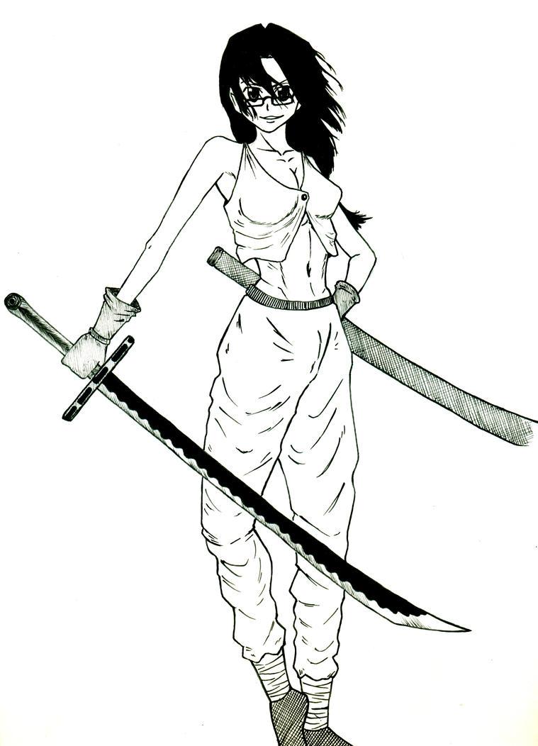 Girl wielding a katana by Eyad-mangafreak