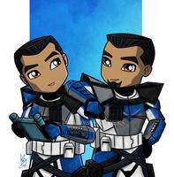 Little ARC Troopers by ladystarsocks