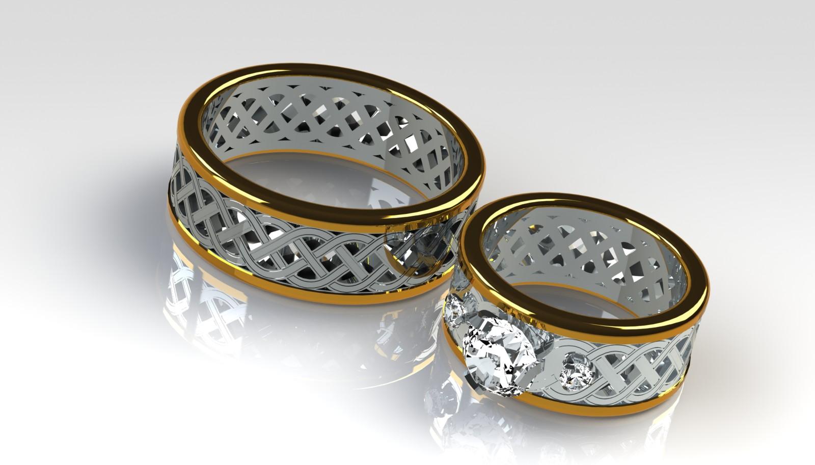 Wedding Rings Groom and Bride by numenorean on DeviantArt