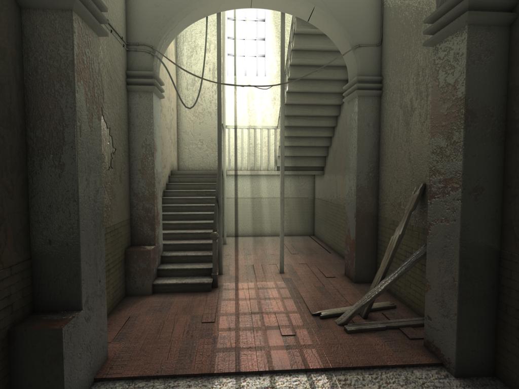 image hallway lighting. Haunted Hallway Lighting Challenge By Dangqi Image