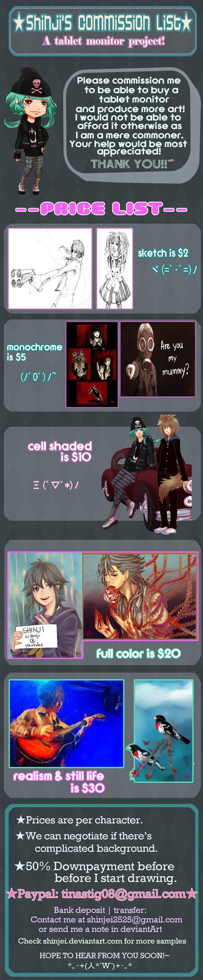Commissions onegai shimasu by ShinJei