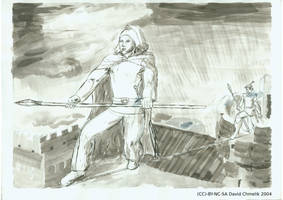 Tyran Alaric of Sherwood and Darwin on Tightrope by dchmelik