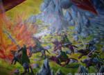 Dragon Fight: elves closeup by dchmelik