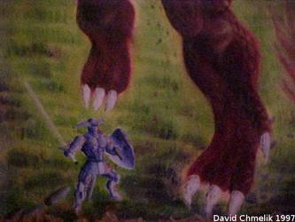 Dragon Fight: feet closeup by dchmelik