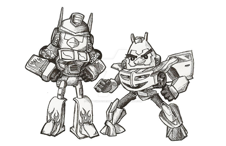 Angry Birds Transformer Coloring Page