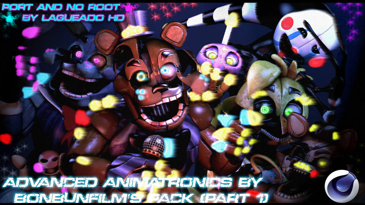 Cinema4D-FNaF)Advanced Animatronics Pack(Part1DL) by LagueadoHDYT on