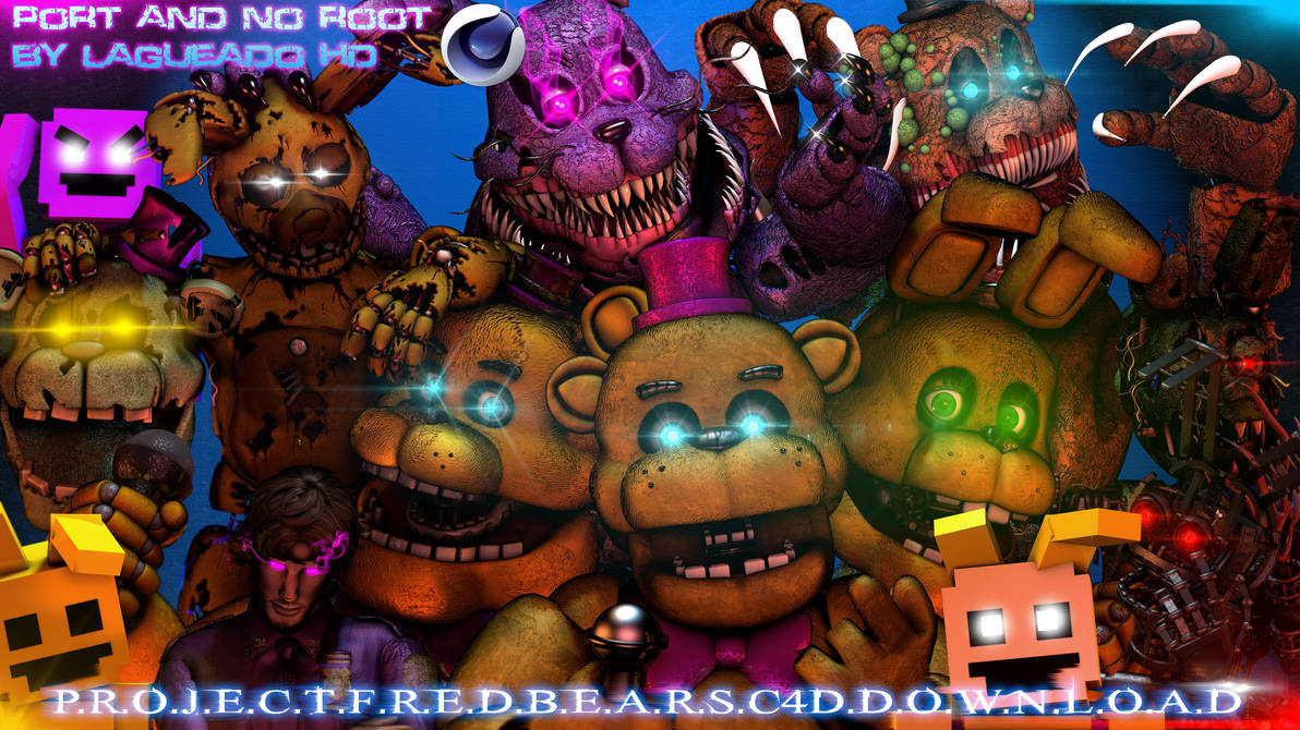 Cinema4D-Especial) Project Fredbears C4D Download by LagueadoHDYT on