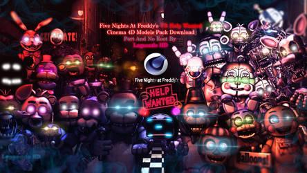 (Cinema4D-Ports) FNaF VR HW C4D Pack Download
