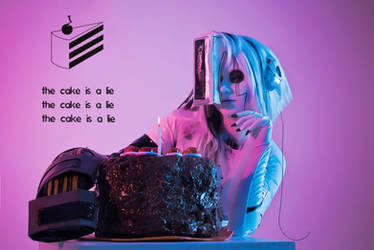 The cake is a lie by Lady-I-Hellsing