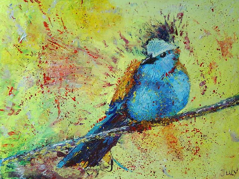 Racket-tailed Roller Bird by JuliaBullet