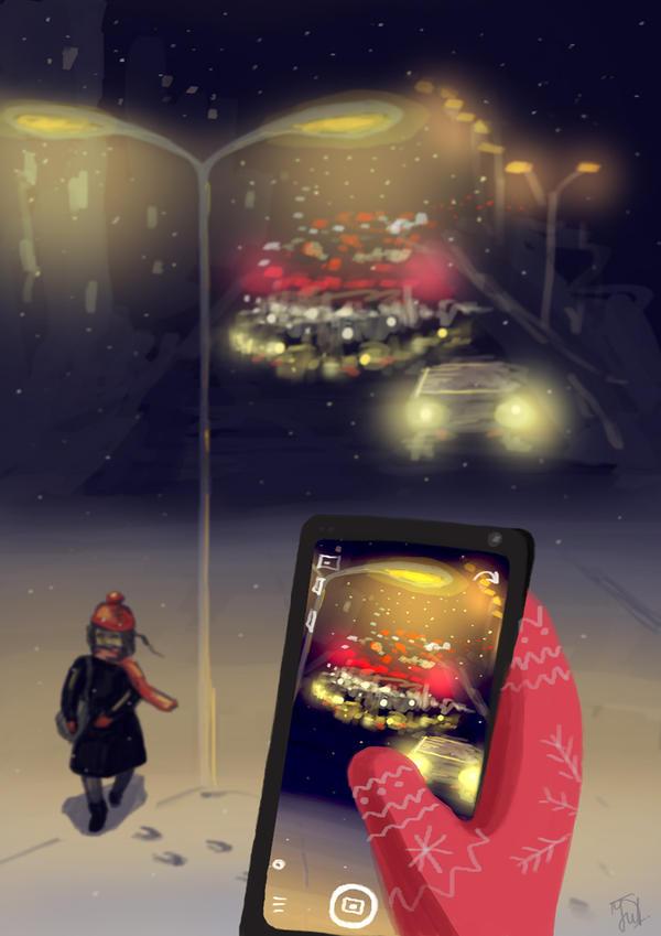 Winter lights by JuliaBullet