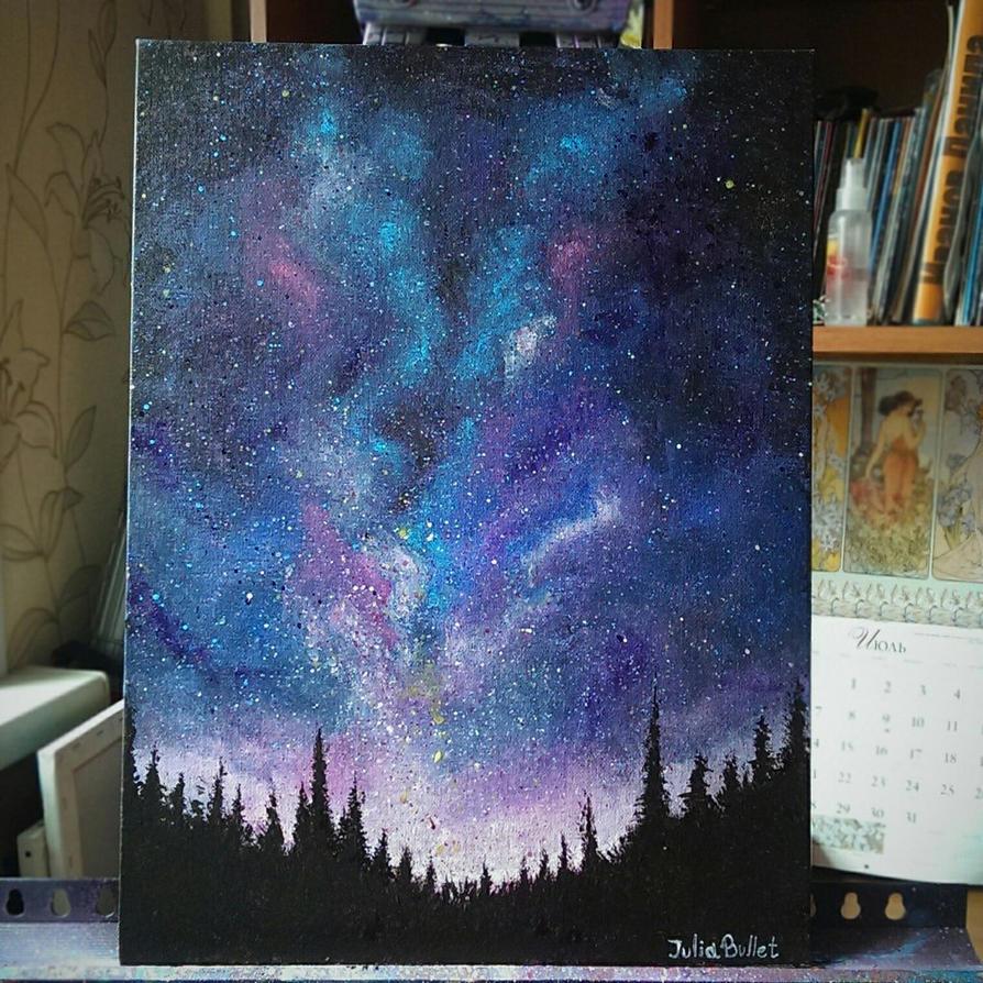 Galaxy sky by JuliaBullet