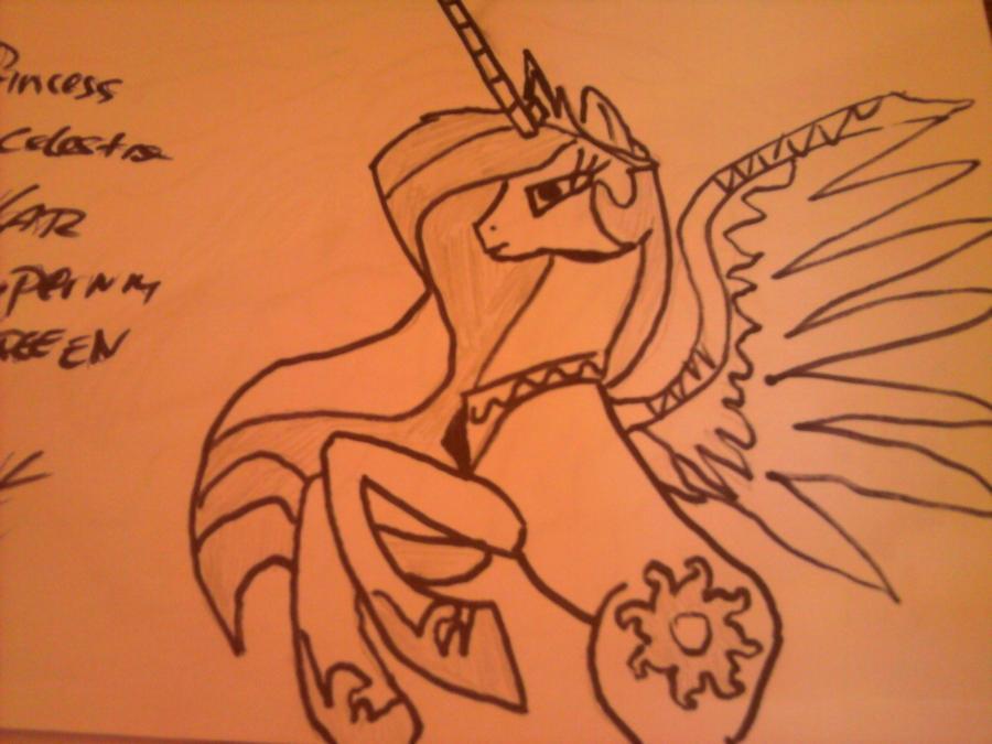 Princess Celestia by Allen1002