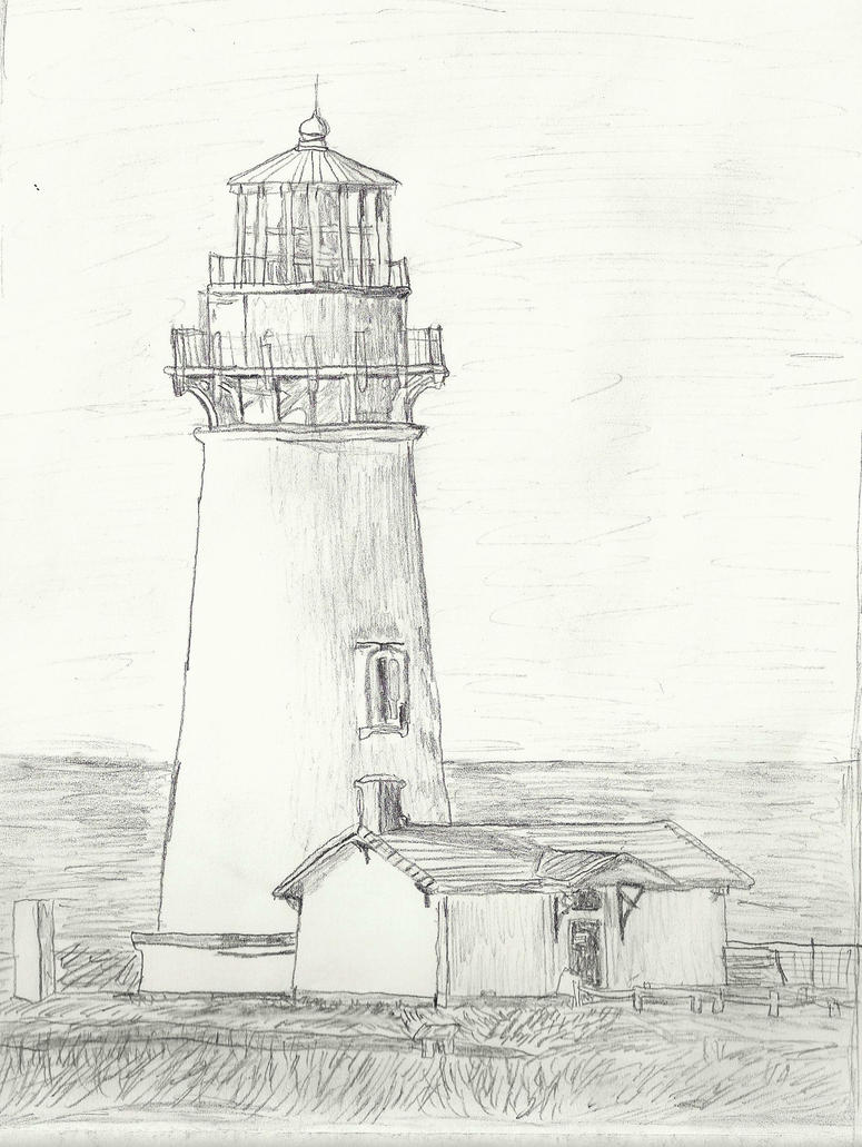 Line Drawing Lighthouse : Yaquina head lighthouse drawing by magicalmayhem on