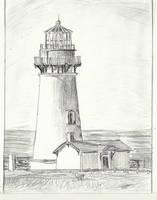 Yaquina Head Lighthouse Drawing- Increased Shading by MagicalMayhem7