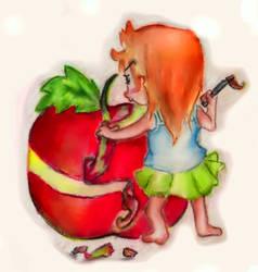 apple by bikyayam