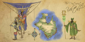Earth Atlas - The Continent of Yhtill by Spearhafoc