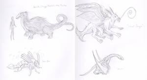 Peluda, Sea-Bee, Locust Dragon, Jaculus