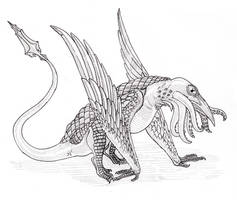 Fearsome Crittober: The Snallygaster by Spearhafoc