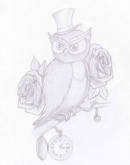 owl tattoo design by little devil s on deviantart. Black Bedroom Furniture Sets. Home Design Ideas