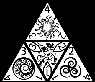 Four Elemental d4s by raejekii