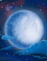 the moon by boyangz