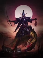 Dark Elf Cold One Knight by ZacART
