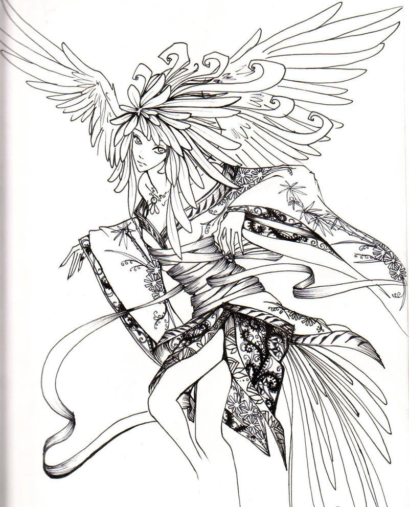 coloring pages of fallen angels - photo#15