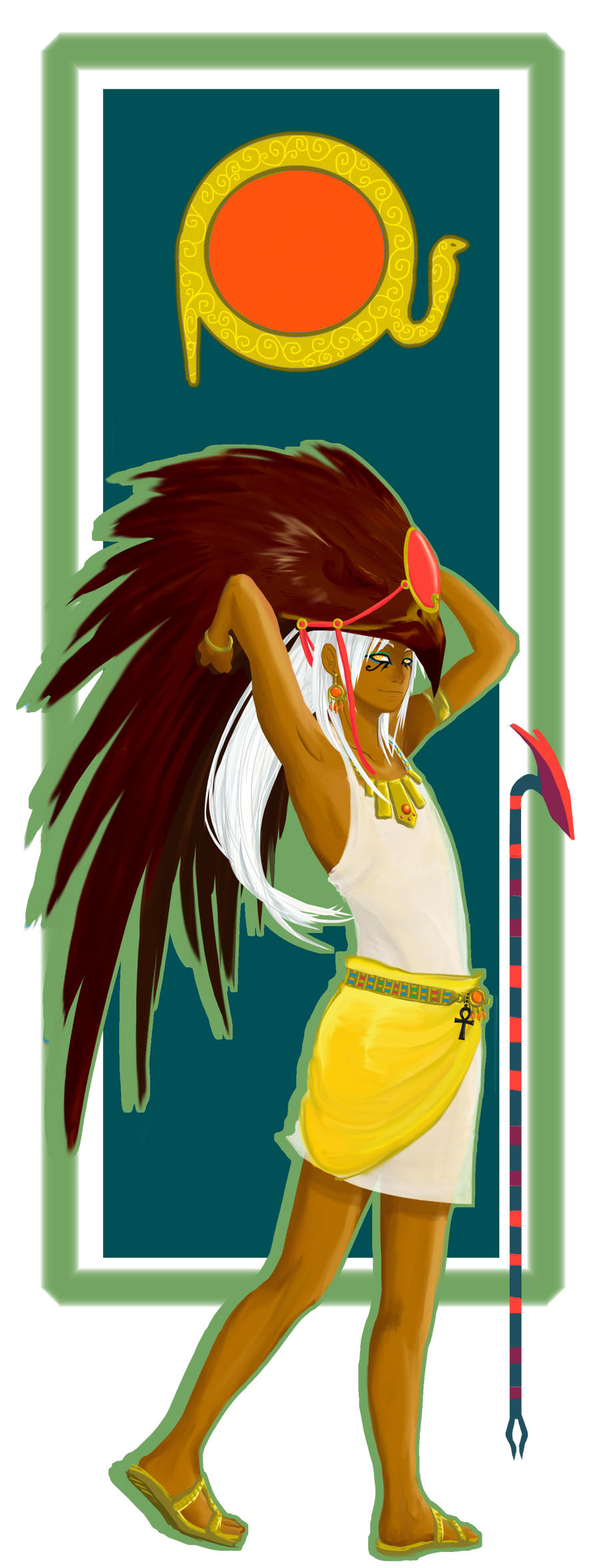 how to draw ra the sun god