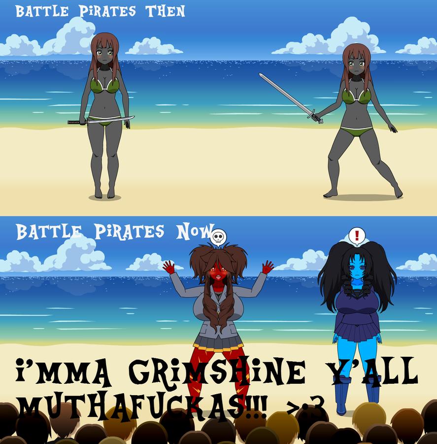 Kisekae: Battle Pirates Then Vs. Now by WyvernsBlade