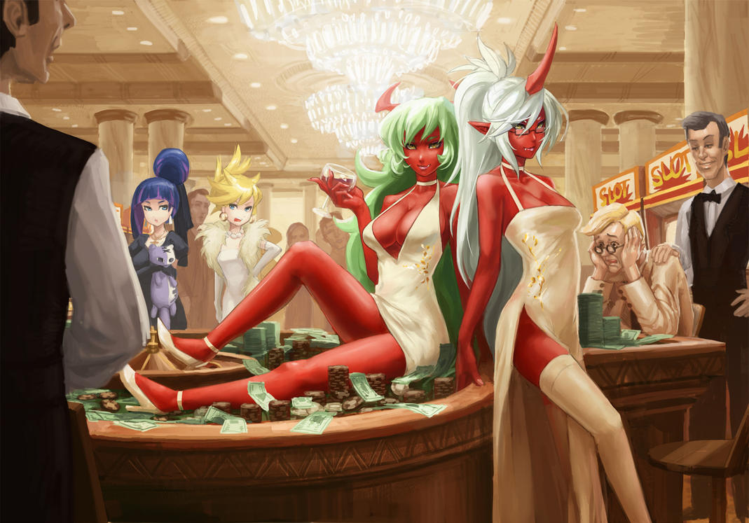 Scanty and Kneesocks -casino by EU03
