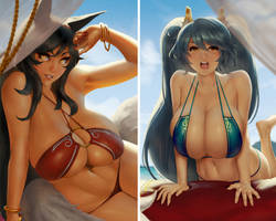 Ahri and Sona