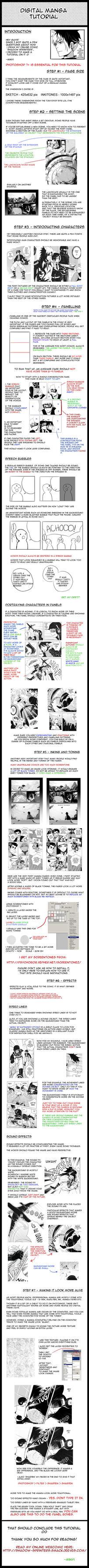 Digital Manga Tutorial by Minyi