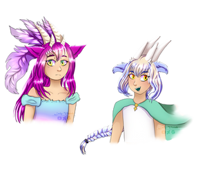 Clairvoyance and Panorama as humans by Lady-Vixtah