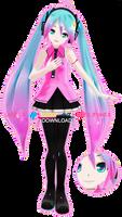 .:Model DL:. LAT Mirai-Style Electric Love Miku by MMDAnimatio357