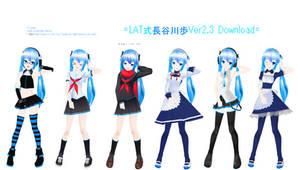 .:Model DL:. LAT Hasegawa Ayumu by MMDAnimatio357