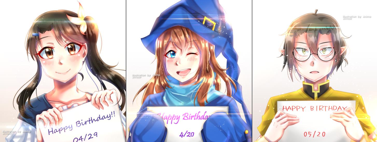 .:COM2017:. Happy Birthday!! by MMDAnimatio357