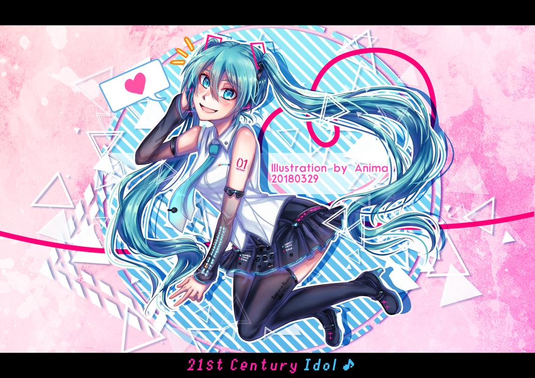 .:Drawing:. 21st Century Idol! by MMDAnimatio357