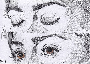 #19 Eye Study [Jenna Coleman] by demik13